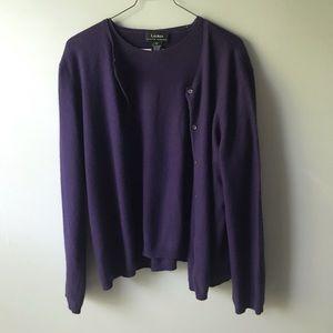 Lauren by Ralph Lauren sweater set
